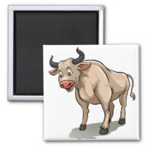 Ox cartoon magnet