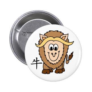 Ox Chinese Zodiac Button