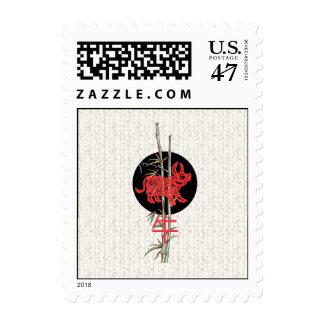Ox (chinese zodiac) postage stamp