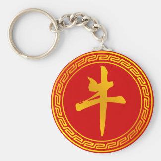 Ox Chinese Zodiac Symbol Keychain