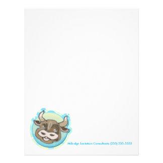 Ox Cow or Bull Farm Animal Head - Letterhead