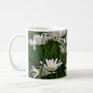 Ox-eye daisy classic white coffee mug