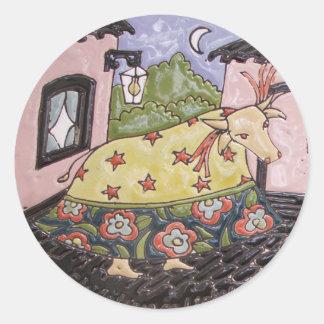 Ox of Papaw Classic Round Sticker