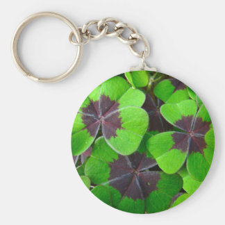 Oxalis Leaves - Red and Green Keychain