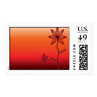 Oxblood Flowers Postage
