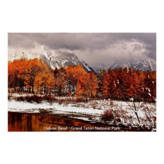 Oxbow Bend - Grand Teton National Park Poster