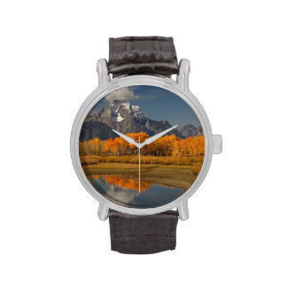 oxbow bend in fall colors wristwatches