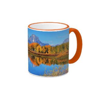 Oxbow Bend Sunrise Ringer Mug