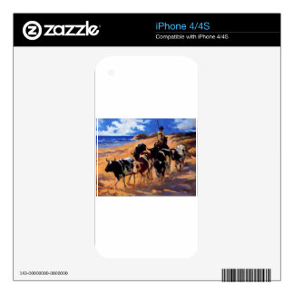 Oxen at the Beach by Joaquín Sorolla Decal For iPhone 4