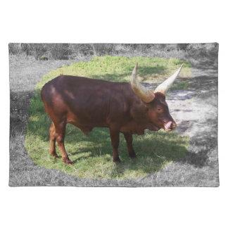 Oxen part color part black and white cloth placemat