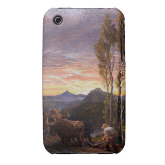 Oxen Ploughing at Sunset (w/c on paper) Case-Mate iPhone 3 Case