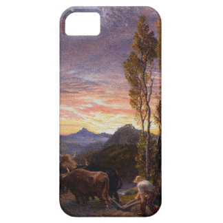 Oxen Ploughing at Sunset (w/c on paper) iPhone SE/5/5s Case