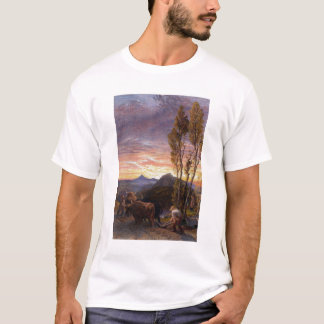 Oxen Ploughing at Sunset (w/c on paper) T-Shirt