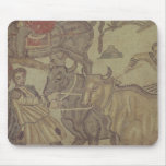 Oxen transporting water, Roman mosaic Mouse Pad