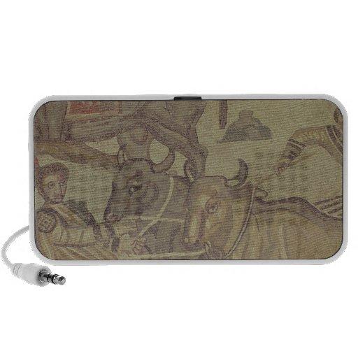 Oxen transporting water, Roman mosaic Travelling Speakers