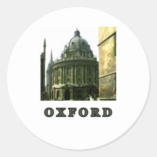 Oxford 1986 snapshot 143 Gray The MUSEUM Zazzle Gi Classic Round Sticker
