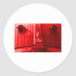 Oxford 1986 snapshot 163 Red The MUSEUM Zazzle Gif Classic Round Sticker