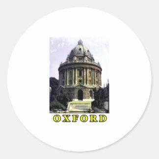 Oxford 1986 snapshot 198 Yellow The MUSEUM Zazzle Classic Round Sticker