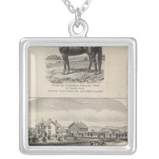 Oxford and Abilene Residences, Kansas Square Pendant Necklace