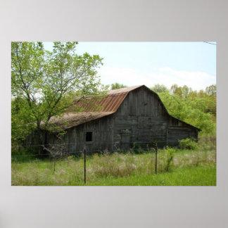 Oxford, Arkansas Barn poster