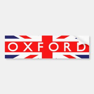 Oxford: Bandera británica Pegatina Para Auto