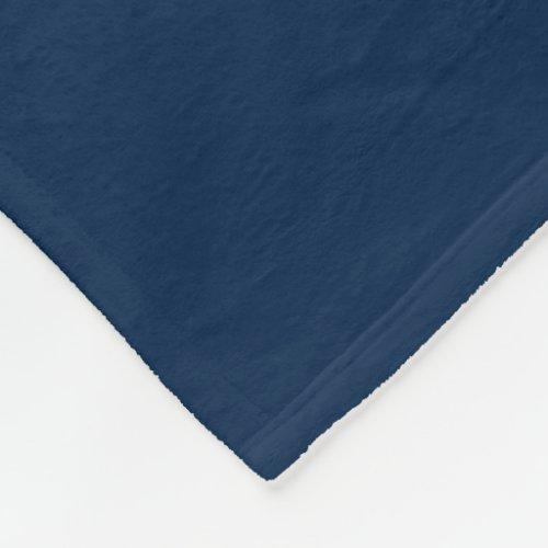 Oxford Blue Fleece Blanket