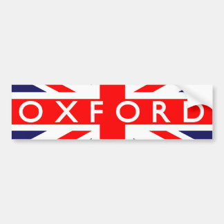 Oxford : British Flag Bumper Sticker