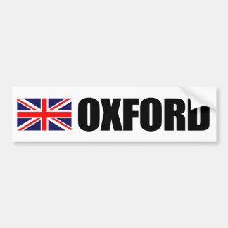 Oxford, British Flag Bumper Sticker
