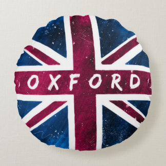 Oxford - British Union Jack Flag Round Pillow