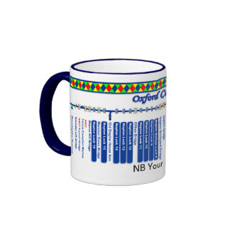 Oxford Canal Route Map (2 of 4) Ringer Mug