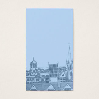 oxford card in baby blue