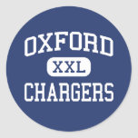 Oxford Chargers Middle Oxford Mississippi Round Stickers