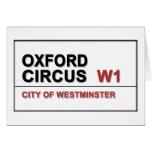 Oxford Circus Lodon England Greeting Card