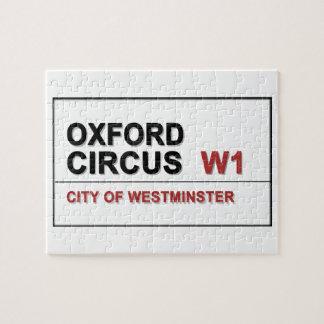 Oxford Circus Lodon England Jigsaw Puzzle