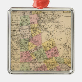 Oxford Co, Maine Square Metal Christmas Ornament