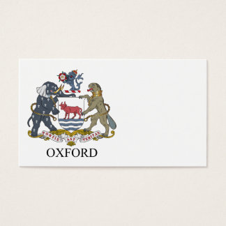 Oxford coat of arms business card