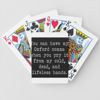 Oxford Comma Bicycle Playing Cards