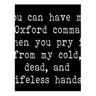 Oxford Comma Postcard