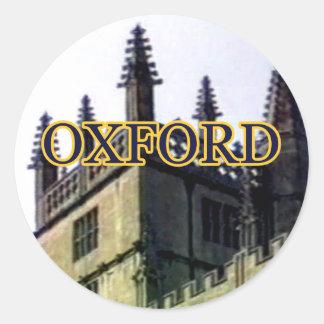 Oxford England 1986 Building Spirals 1 Classic Round Sticker