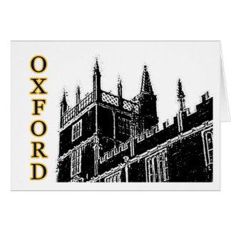 Oxford England 1986 Building Spirals Black Card