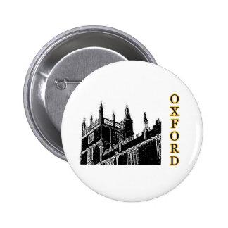 Oxford England 1986 Building Spirals Black Pinback Button