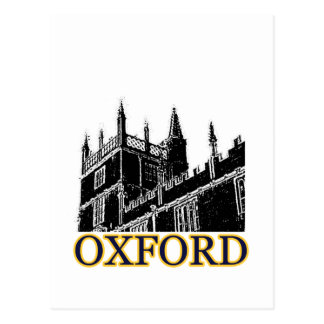 Oxford England 1986 Building Spirals Black Postcard