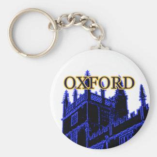 Oxford England 1986 Building Spirals Blue Basic Round Button Keychain