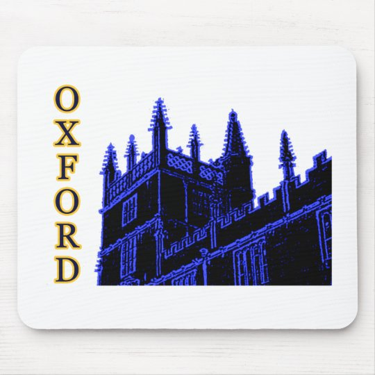 Oxford England 1986 Building Spirals Blue Mouse Pad