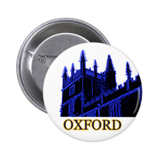 Oxford England 1986 Building Spirals Blue Pinback Button