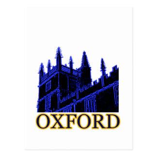 Oxford England 1986 Building Spirals Blue Postcard