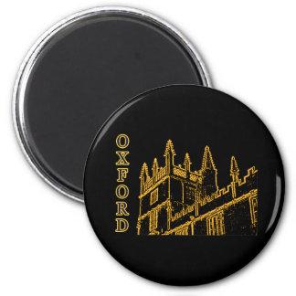 Oxford England 1986 Building Spirals Brown 2 Inch Round Magnet