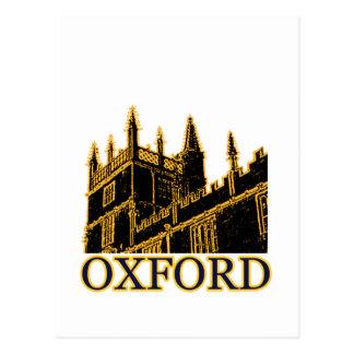 Oxford England 1986 Building Spirals Brown Postcard