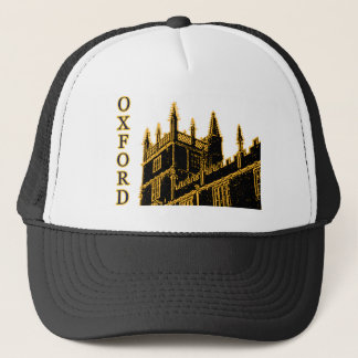 Oxford England 1986 Building Spirals Brown Trucker Hat
