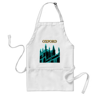 Oxford England 1986 Building Spirals Cyan Adult Apron